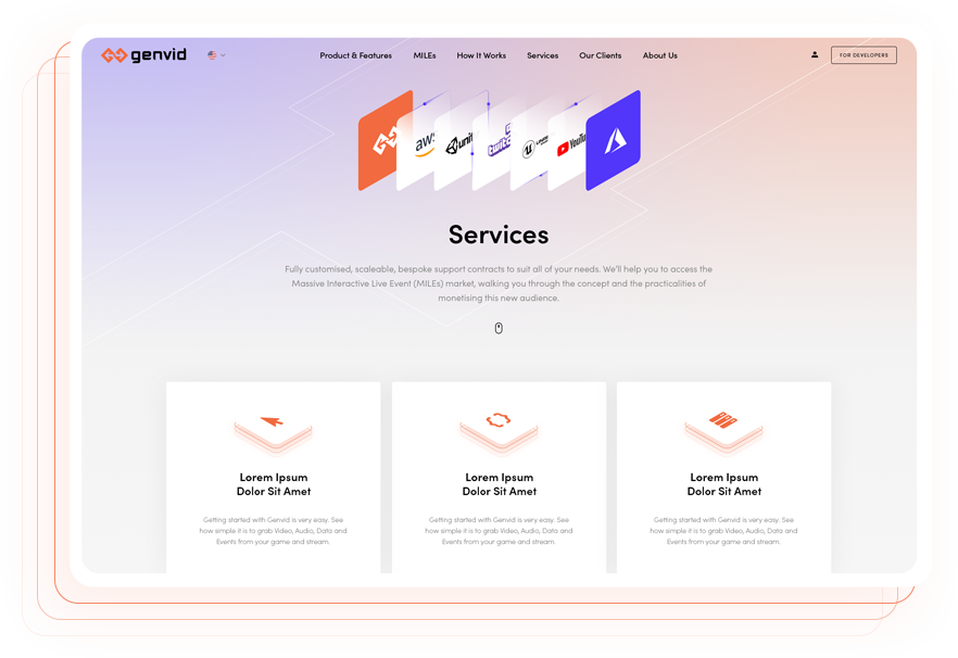 Creative Brand Design - Website Design Page